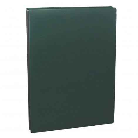 Unterschriftenmappe aus glattem Vollrindleder in Grün – grüne Leder Signaturmappe