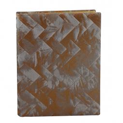 Gästebuch Brillare hochkant in Kupfer – Gästebuch im Stoffeinband mit Goldschnittblock
