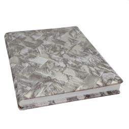 Gästebuch Brillare hochkant in Silber – Gästebuch im Stoffeinband mit Silberschnittblock
