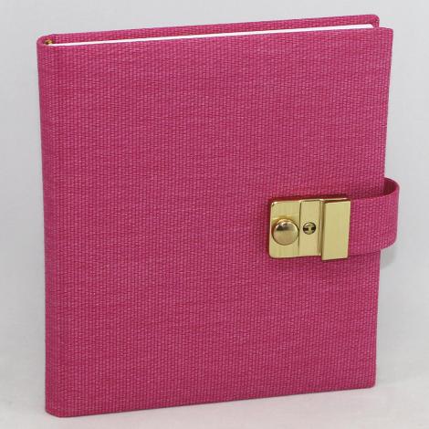 Tagebuch mit Schloss Candy in Pink – abschließbares pinkes Tagebuch im Stoffeinband mit 144 blanko Seiten