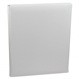 Gästebuch Multicolori hochkant in Weiß – Blankobuch im Stoffeinband