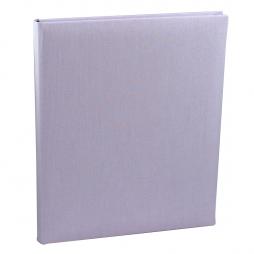 Gästebuch Multicolori hochkant in Flieder – Blankobuch im Stoffeinband