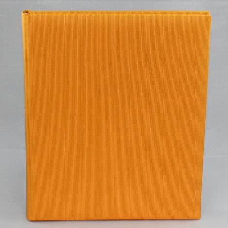 Gästebuch Multicolori hochkant in Orange – Blankobuch im Stoffeinband