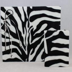 Set Zebra – Fotoalbum mit Kordelbindung + Notizbuch