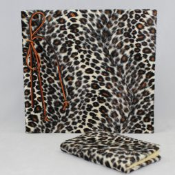 Set Leopard – Fotoalbum mit Kordelbindung + Notizbuch