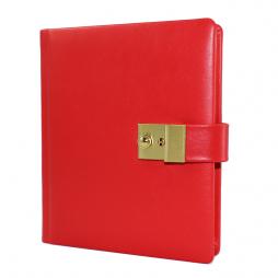 Tagebuch aus glattem Leder mit Goldschnittblock in Rot