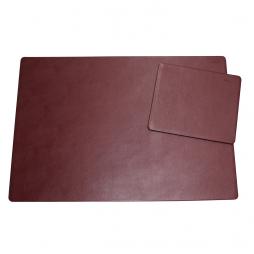 Schreibtischunterlage Leder mit Mousepad bordeaux