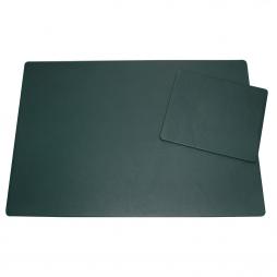 Schreibtischunterlage aus Leder mit Mousepad in Tannengrün