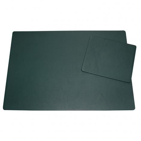 Schreibtischunterlage Leder mit Mousepad tannengrün