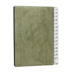 Pultordner aus Nappaleder Sauvage mit Register 1-31