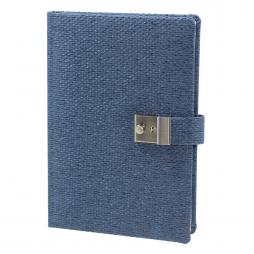 Taschenkalender Liam DIN A5 in Blau mit Schloss