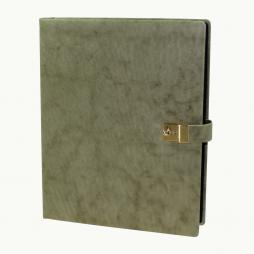 Ringbuch-Ordner aus Nappaleder Sauvage