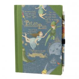 Notizbuch Peter Pan mit Buchbinderleinen