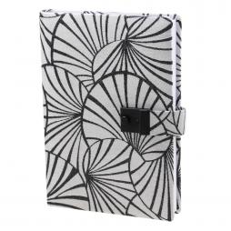 Taschenkalender Emilia DIN A5 in Grau mit Schloss