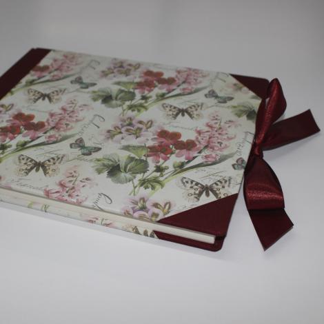 Gästebuch Romantica mit Buchbinderleinen