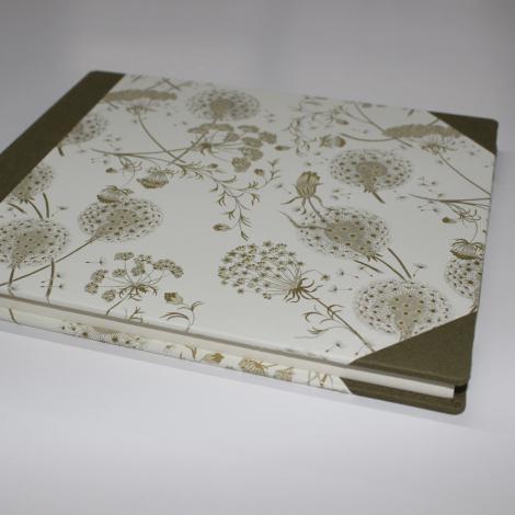 Gästebuch Dandelions mit Buchbinderleinen
