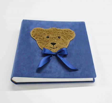 Kinderfotoalbum Teddy samtblau