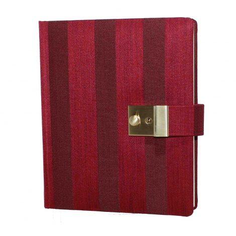 Tagebuch mit Schloss Venezia in Rot