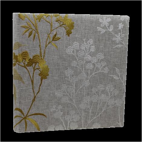 Fotoalbum Zoe im Baumwoll-Leinen-Einband mit Blumenstickereien