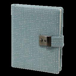 Tagebuch mit Schloss Benny in Blau