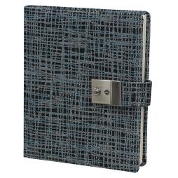 Tagebuch mit Schloss Tessy in Blau-Silber