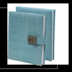 Poesiealbum und Tagebuch Nathan in Blau